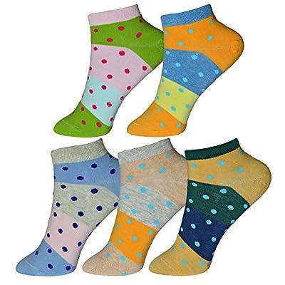Me Stores Ankle length women/girls socks polka dot/Striped Socks/Pattren Designs (5 Pair)