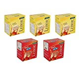 #9: Combo pack of 3 Lemon Flavored Instant Ice Tea and 2 pack of Peach Ice Tea (Each box contain 10 Sachets) By Lemor