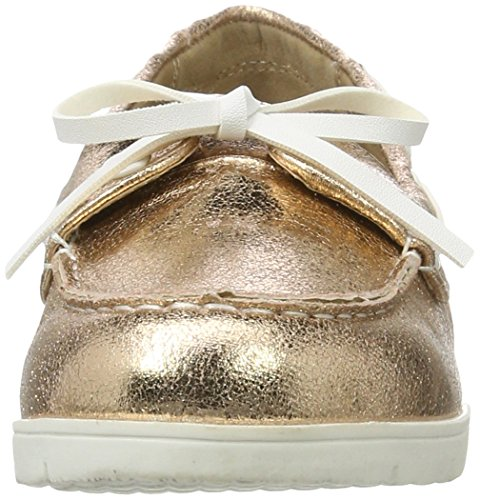 XTI - Nude Metallic Ladies Shoes ., Mocassini Donna Pink (Nude)