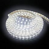 Forever Speed 5m LED Streifen Strip Aussen Lichterkette Kaltweiß 6500K 5050 SMD IP65 230V 72W 3000lm 60 LEDs/M mit Wasserdicht Stecker