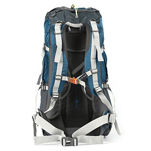 OUTAD 60+5 L Outdoor-Bergsteigen Jagd Camping Wandern Rucksack Bergsteigen Rucksack Blau