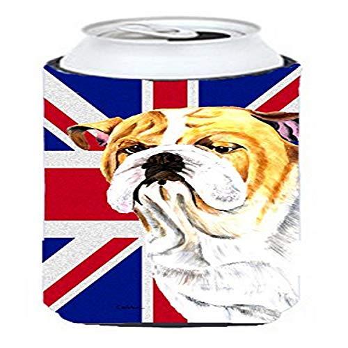 Bulldog anglais avec English Drapeau britannique Union Jack Tall Boy Boisson isolant Hugger Sc9831tbc
