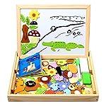StillCool 100 Piezas Puzzles de Madera Magnético,Dibujo de Animal Colorido con P...