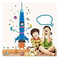 Removable Craft Wall Sticker Kids Bedroom Height Measurement Rocket Star Nursery DIY Growth Chart Cartoon Durable PVCU