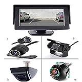 YMPA Rückfahrsystem Einparkhilfe 12,7 cm 5 Zoll Inch mit TFT LCD Monitor mit Rückfahrkamera Farb Kamera und 6 Meter Kabel für Auto PKW KFZ Transporter Wohnmobil 170 RFS-S5