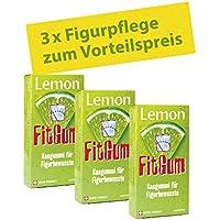 BADERs Lemon FitGum, der Funktions-Kaugummi aus der Apotheke mit L-Carnitin für die Figur. Ideal zur Diätbegleitung. Vegan. Vorteilspackung 3 x 16 St. (90g). Pharmazentralnummer: 10132004