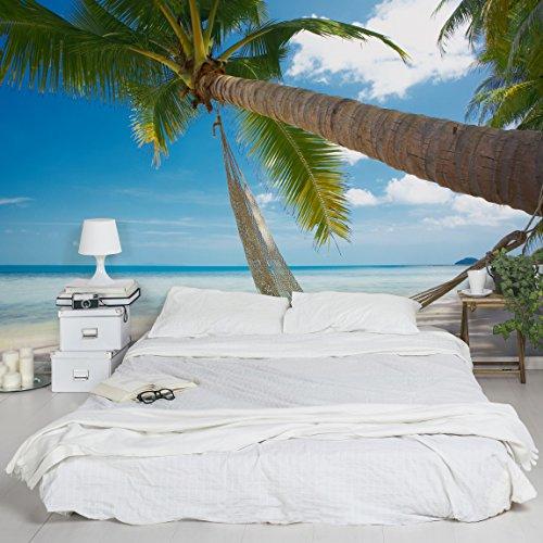 Apalis Vliestapete Relaxing Day Fototapete Breit | Vlies Tapete Wandtapete Wandbild Foto 3D Fototapete für Schlafzimmer Wohnzimmer Küche | blau, 94780
