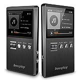 Lecteur MP3 haute résolution, Bassplay P5000 Lecteur audio numérique portable avec fente pour carte SD jusqu'à 128 Go de mémoire extensible ne comprenant pas de carte SD