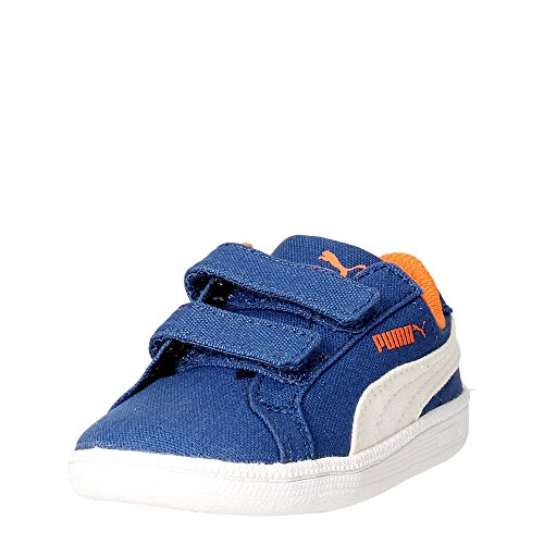 Puma Smash Fun Cv V, Baskets Basses mixte enfant Bleu