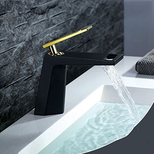 YSRBath Moderne Waschbecken Waschtischarmatur Antike High-End-Schwarz Gold Heiß und Kalt Mischbatterie Bad Küche Wasserhahn Badarmatur