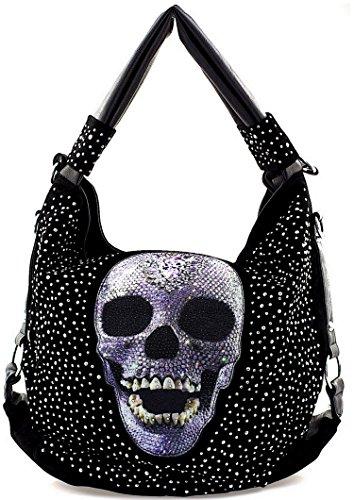 8395723bd1746 Star-Trends Damen Handtasche Totenkopf Skull Bone Bowling Bag Gothic Punk  Damentasche Schultertasche.