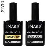 Miss Nails®, mit Top-Matte mit super-groß, 15-ml-Flasche 10ml UV-LED-Gel Soak-Off-Nagellack Lack mit Displayschutzfolie