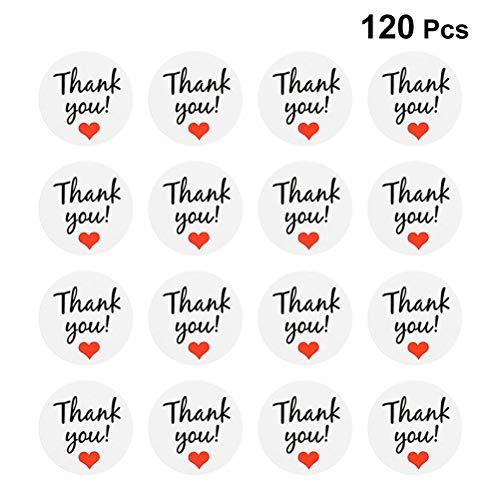 Toyvian, 10 Fogli di Adesivi di Ringraziamento con Etichetta Adesiva di Ringraziamento per confezionare a Mano (12 Pezzi per Foglio)
