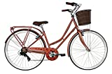 "Kingston Hampton, Classic Ladies Bike, 7 Speed, 700C Wheel, Metallic Bronze (16"")"