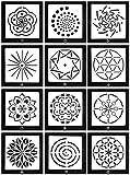 Lirener 14 Stück Bullet Journal Grafiken Schablonen Mandala-Muster