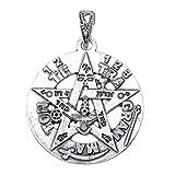 Colgante plata ley 925m tetragramatón 26mm. amuleto [AB0497]