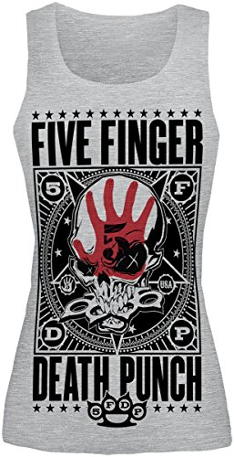 Five Finger Death Punch Punchagram Top donna grigio sport XXL