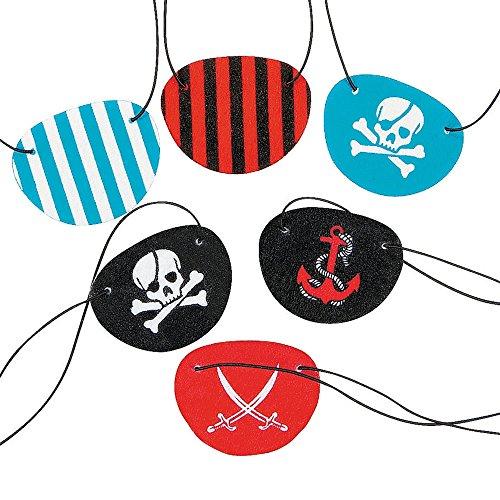 en Filz Piraten Piratenparty Kindergeburtstag Piratenklappen Seeräuber Schatzsuche (Piraten-augenklappen)