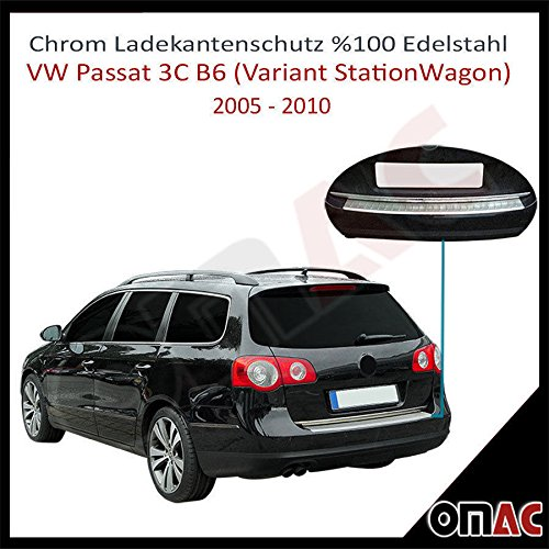 Preisvergleich Produktbild PASSAT VARIANT B6 3C 2005-2010 Ladekantenschutz Gebürstet V2A mit Abkantung