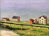 Posterlounge Acrylglasbild 80 x 60 cm: Regatten auf Dem Meer von Gustave Caillebotte/akg-Images - Wandbild, Acryl Glasbild, Druck auf Acryl Glas Bild