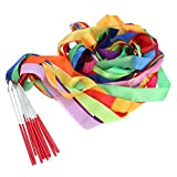 Toyvian 14pcs colorato Ginnastica Ritmica Nastro Danza Ginnastica Nastro Danza Stelle filanti per i Bambini
