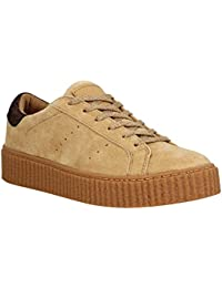 NO NAME Picadilly Sneaker velours Femme Mastic