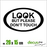 LOOK BUT PLEASE DONT TOUCH XL 2112 // Sticker OEM JDM Style Aufkleber (Schwarz)