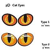 ZERO FAN Car Stickers Decal Embelm-Cat Eye Waterproof,Laptop Wall Window Motorcycle Stickers,1 Set,2 Types