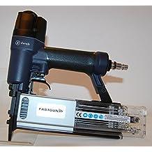 Clavadora Neumática Combi para Agujas 0,6 mm con y sin cabeza FASTGUN F 0.6/50C hasta 50 mm de largo + 2.000 Puntas + Maletín