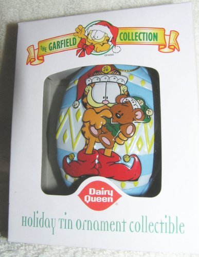 garfield-the-cat-elf-with-pooky-tin-ornament-from-dairy-queen-2001-by-garfield