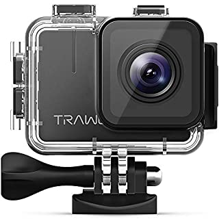 apeman TRAWO 4K Ultra HD Wi-Fi Camera 20MP Waterproof 40M Action Cam EIS Stabilization 170 ° Wide Angle with 2 Batteries 1350mAh and Multiple Accessories