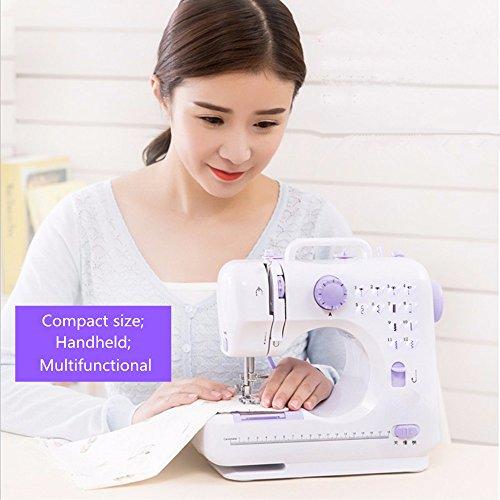 Milkee mini Nähmaschine 12 Nähprogramme Haushaltsgeräte Stichprogramme (WT) -