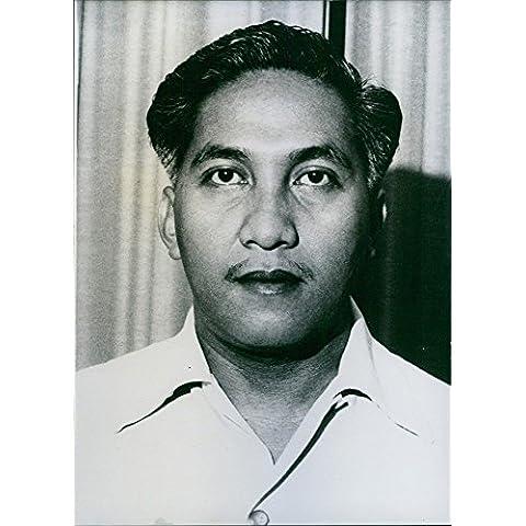 Vintage Foto de retrato de Dr. Sukarno vitrina de M. sudibjo. 1962