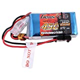Gens Ace LiPo Akku Pack 450mAh 11.1V 25C 3S1P für FPV Racing Quadcopters Diverse Racing Cars Helikopter Flugzeuge und Modellboote