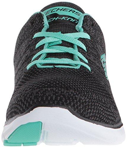 Skechers Ladies Flex Appeal Sneakers 2.0 Ad Alta Energia Nere (bkq)