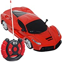 Amazemarket 20 cm Baby Kids Child 1:24 Scale Supercar Automobile Model Headlight Radio Control 2 Channels Forward Backward Radio Remote Control Indoor Outdoor Play Toy Exquisite Ornaments (random color) - Compare prices on radiocontrollers.eu