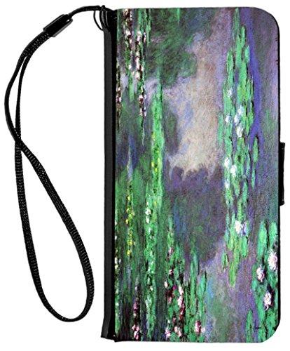 Rose Distressed-leder (Rikki Knight Schutzhülle für iPhone 6 / 6s, aus PU-Leder, mit Saudi-Arabien-Flagge auf Distressed Wood, Seerosen, Wasserlandschaft, Sea Roses Water Landscape)