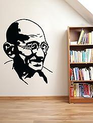 DECOR Kafe Home Decor Gandhi Wall Sticker, Wall Sticker for Bedroom, Wall Art, Wall Poster (PVC Vinyl, 50 X 68