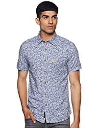 US Polo Association Men's Printed Slim fit Casual Shirt