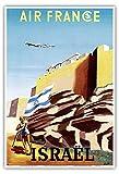 Israel - Zionistische Heldin schwingt israelischer Flagge -