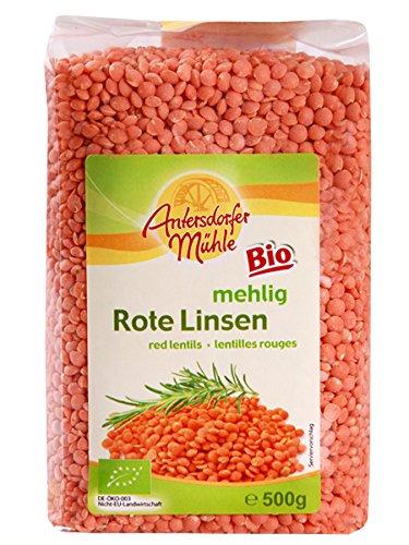 Antersdorfer Mühle Rote Linsen, 6er Pack (6 x 500 g) – Bio