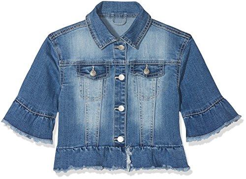 s.Oliver Mädchen 53.802.51.4295 Jacke, Blau (Blue Denim Stretch 55Z7), 110 Junior Fashion Denim Jacke