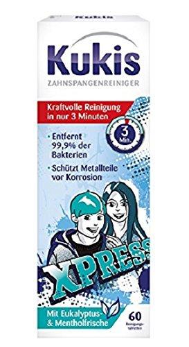 Kukident Zahnspangen-Reiniger 60er, 3er Pack (3 x 60 Stück)