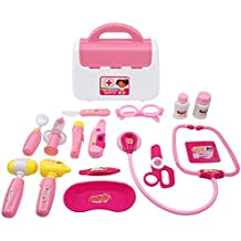TurnRaise Dottore Giocattolo Apprendimento Kit Regalo Ruolo Medico e L'infermiere Imitazione per Bambini (rosa)