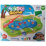 ZIGLY Colorful Water Fishing Game Toy With Music & Light For Kids