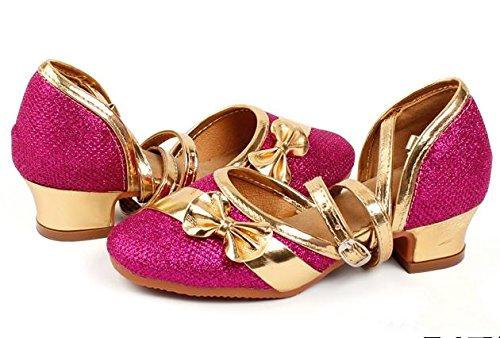 Bambini / adulti latino scarpe da ginnastica di ballo latino spettacoli di danza mostrano scarpe Rose