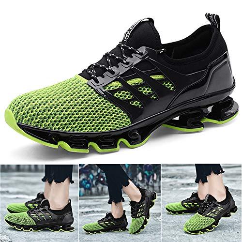 sale retailer 70f15 7a180 Hommes Chaussures de Sport Basket Running Compétition Training Fitness  Tennis Athlétique Sneakers, Green-txtk06