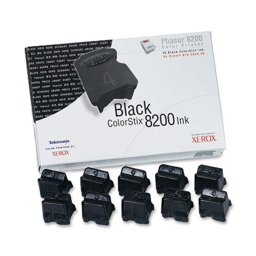 Phaser 8200 (Xerox 16204400 Phaser 8200 colorstix schwarz Standardkapazität 10 x 1.400 Seiten 10er-Pack)