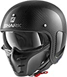 Shark he2700dsk casco Moto, Color Gris/Negro, talla M