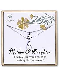 42daa90c9664 Chiclove Collar de Madre e Hija Set Conjunto de joyería de mamá ...